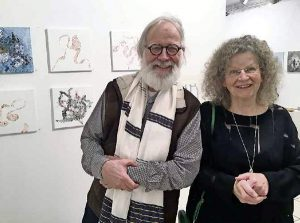 Esther Haltiner-Lüscher und Jacques Philipp Neukomm 2019 in der Galerie Artesol Solothurn.