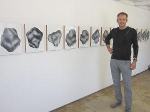 Adrien Jutard 2019 in der Galerie Rössli in Balsthal. (Foto: Eva Buhrfeind)