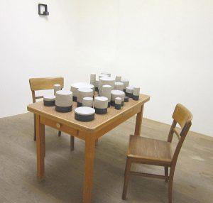 Werk von Michael Cleff 2019 in der Galerie Abbühl, Solothurn. (Foto: Eva Buhrfeind)
