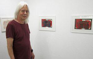 Jürg Ottiger 2019 in der Galerie Löiegruebe in Solothurn. (Foto: Eva Buhrfeind)