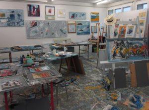 Blick ins Atelier Peter Steinmann 2019 in Leuzigen. (Foto: Eva Buhrfeind)
