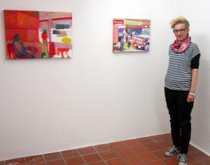 Vero Deubelbeiss im Oktober 2019 in der Galerie Rössli in Balsthal. (Foto: Eva Buhrfeind)