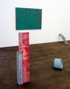 Werke von Pierre Haubensak und Eva Maria Gisler 2020 im Kunstraum Medici, Solothurn. (Foto: Eva Buhrfeind)