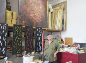 Pedro Meier in seinem Atelier in Olten. (Foto: Eva Buhrfeind)