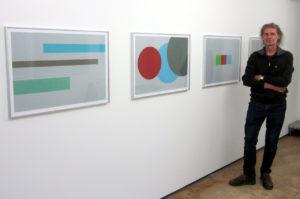 Hansjörg Müller 2020 in der Galerie Rössli, Balsthal. (Foto: Eva Buhrfeind)