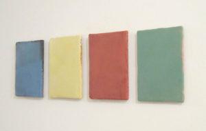 Werke von Myriam F. Levy 2020 in der Galerie Abbühl, Solothurn. (Foto: Eva Buhrfeind)