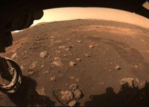 Aufnahme von «Perserverance» (Beharrlichkeit) auf dem Mars. (Illustration: NASA)