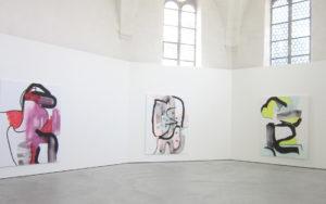 Werke von Marius Lüscher 2021 im Haus der Kunst St. Josef, Solothurn. (Foto: Eva Buhrfeind)